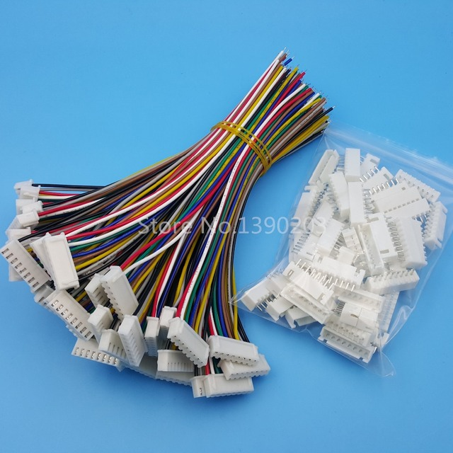 50Sets XH Pitch 2.54mm 8Pin 8Wires Single Head Wire To Board ...