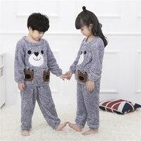 Children Pajamas Children Spring And Autumn Girls Big Girls Flannel Pajama Sets Kids Warm Winter Robe