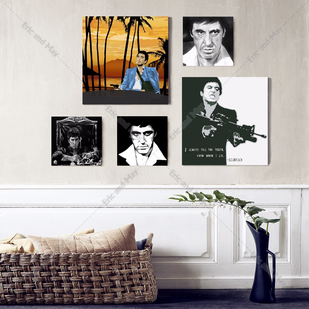 Scarface Shooting Canvas Art Print Painting Poster Wall Picture For ...
