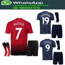 6afe5b781 2018 2019 Optimum quality Manchesteers United Adlut kit+sock soccer Jerseys  camisetas shirt survetement man Football shirt
