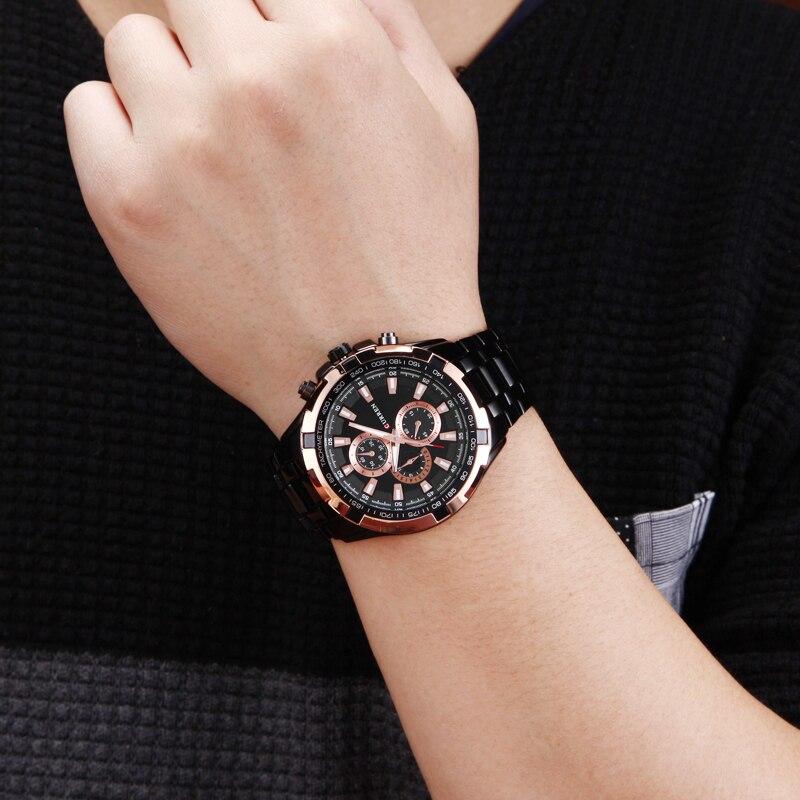 μαύρη ρολόι άνδρες στρατιωτική relogio - Ανδρικά ρολόγια - Φωτογραφία 6