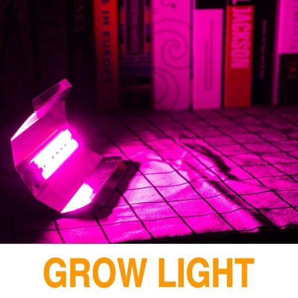Светодиодный чип COB 30 Вт 50 Вт 80 Вт AC220V светодиодный светильник для выращивания растений полный спектр фитолампа для комнатных садовых растений гидропоника, шатер для выращивания - Испускаемый цвет: Grow Light