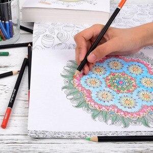 Image 3 - 72 أقلام رصاص ملونة مع صندوق حديد مجموعة أقلام رصاص نابضة بالحياة تأثيرات خلط جميلة رسم فني رسم تظليل تلوين قلم رصاص هدية