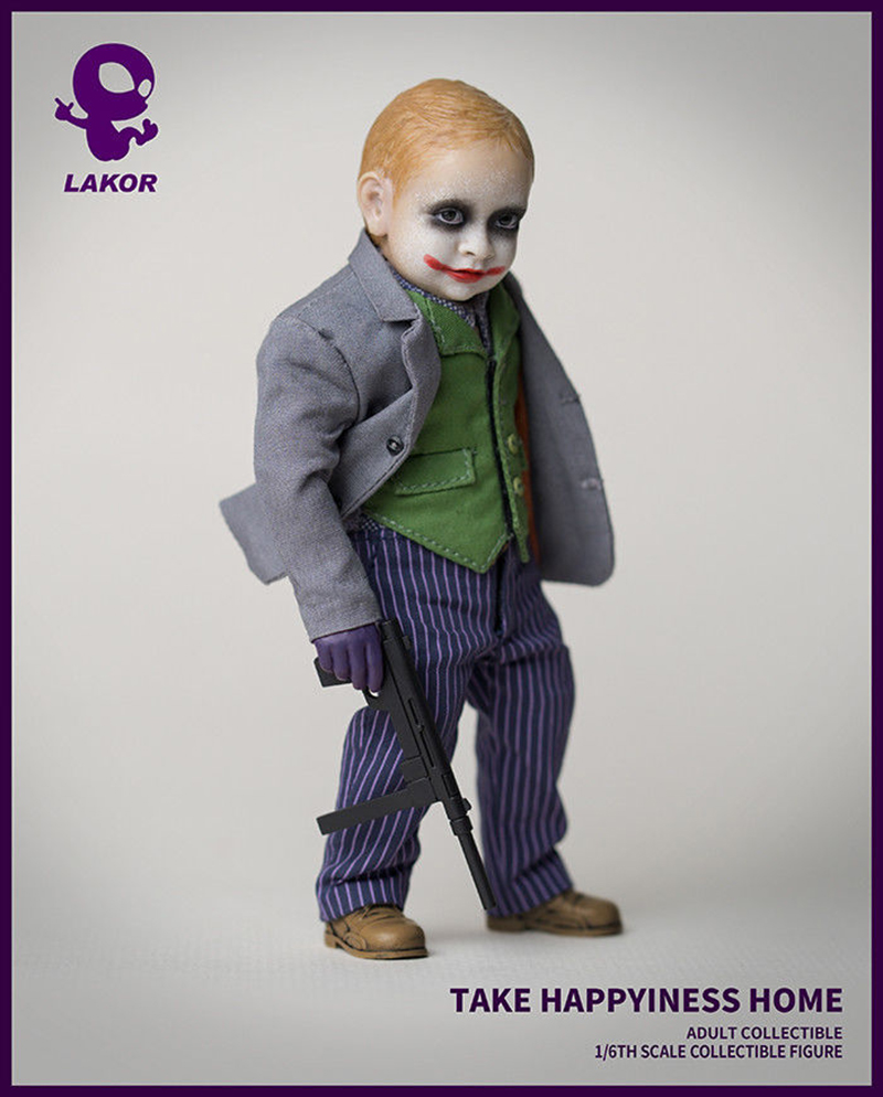 Bullet Head Joker 20cm Action Figure Model In Box In Stock Collection Display