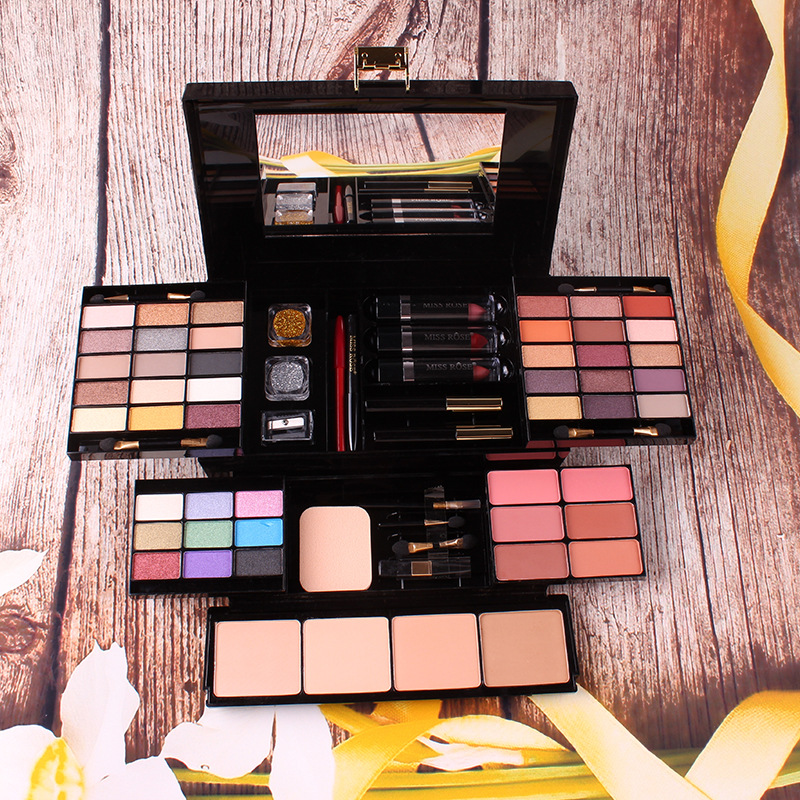 NEW Professional Makeup Kit sets Eyeshadow Blushers Cosmetic Case Full Pro Makeup Palette Lipstick palette eyeshadow Brushers saiantth makeup tool set kit combination 15 color concealer palette toothbrush makeup brush water drops sponge puff cosmetic