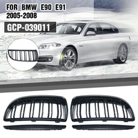 1 Pair Gloss Black Double Slat Sport Kidney Grille Grill For BMW E90 E91 4 Door Saloon/Touring 2005 2006 2007 2008