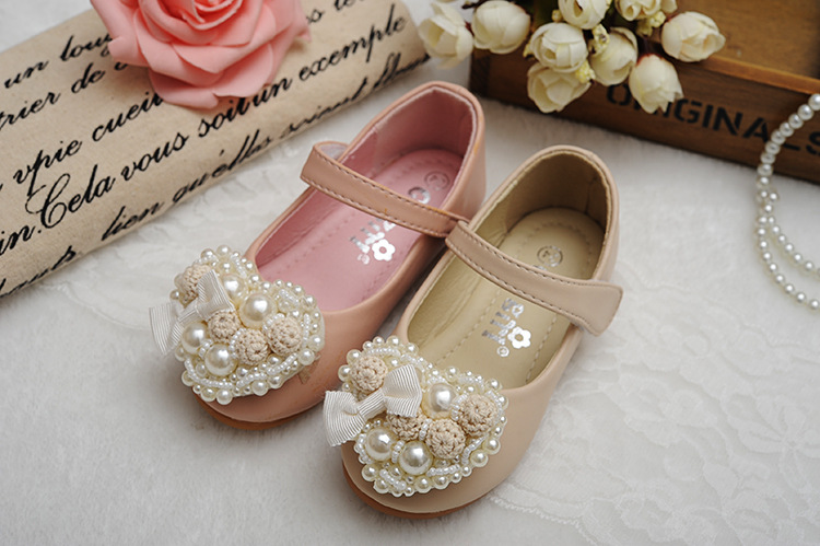 baby Girls pearls bow leather shoes, NEW kids 2018 SPRING CHILD fall boutique wear, 6 M-6 yrs retail, 1AG804S-01R, ELEVEN STORY