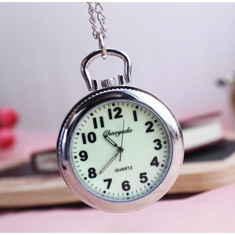 Stainless Steel Fashion Lovely Pocket Watch Keychain Watch Key Ring Clip Pendant Quartz pocket Watches cute owl style stainless steel quartz watch with keychain silver 1 x 377