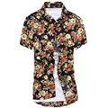 Camisa Hawaii Férias Top Camisa Da Praia do Estilo Floral Chemise Homme Camisa Listrada Homens Camisa Social Carreaux Chemises Homme
