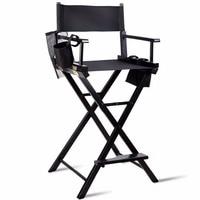 Giantex طوي الخشب التخييم مديري كرسي ماكياج الفنان خفيفة الوزن ث/أكياس جانبية أثاث المنزل HW56211