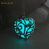 Heart Love Luminous Pendants & Necklaces Women