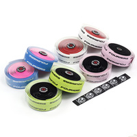 Fouriers Dual Color Tape PU Bicycle Drop Handlebar Tape with Holes Bike Belts For Fixed Gear Road Bike Handle bar Wraps