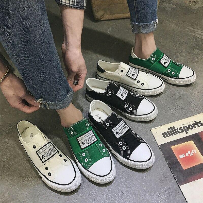 2019 spring new breathable men 39 s canvas Korean casual shoes men in Men 39 s Casual Shoes from Shoes