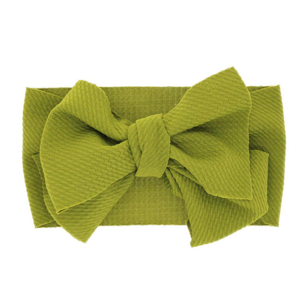 Nishine ブティック新ガールズボウドレスベビーヘッドバンド子供弾性ワイドノット Headwraps ファッションヘアアクセサリー写真の小道具