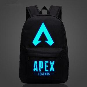Image 1 - New Arrival Hot Game plecak APEX LEGENDS Luminous plecaki podróżne School