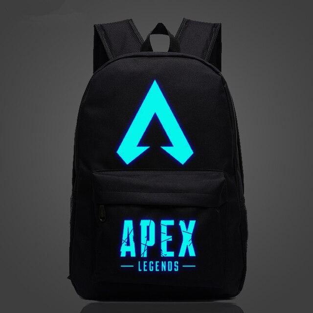 Nueva llegada, juego popular, mochila APEX LEGENDS, mochilas luminosas para viaje, escuela