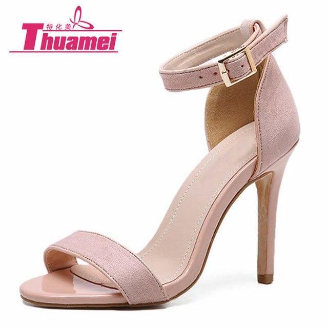 ab92a7f4ad8d5 Women Sandals Ankle Strap Platform High Heels Peep Toe Gladiator Fashion  Spring Summer Shoes Woman Apricot Black  Y0602360G