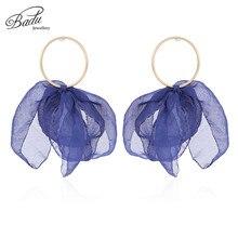Badu Lovely Bohemian Yarn Flower Earrings for Women Romantic Christmas Jewelry Gift Girls Colorful Earring Wholesale