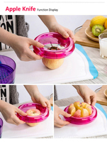 Fruit Cutter 10 PC/SET, include Grapefruit Squeezer,Grater,Apple Cutter,Citrus Cutter,Avocado Scoop,Mesh Fruit Cutter