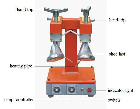 Heating Shoe Stretcher Machine With Tow Heads Shoes Tree Men Adjustable Width  цены