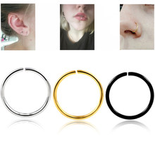 1 Pc Surgical Steel 20G Nose Rings Cartilage Earrings Fake Septum Indian Nose Piercing Hoop Piercing Labret Body Jewelry(China)