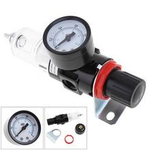 цена на New Arrival Pneumatic Air Source Treatment Filter Regulator w Pressure Gauge AFR-2000 Compressors