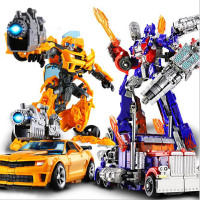 Children Robot Toy Transformation Anime Series Action Figure Toy 2 Size Robot Car ABS Plastic Model