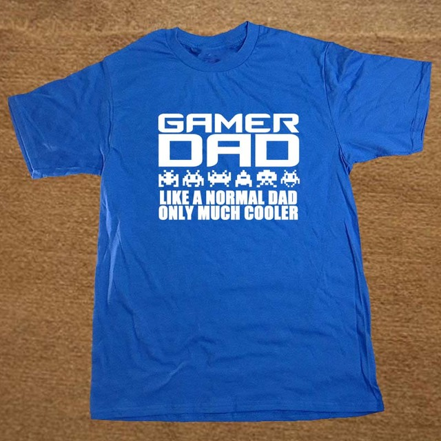 Gamer Dad Christmas Fathers Day Playstation PC Funny Mens T-Shirt T Shirt Short Sleeve Cotton Casual Top Tee