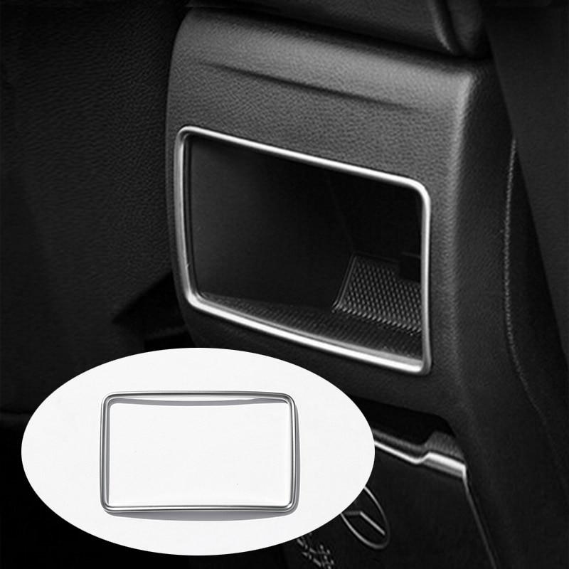 For Mercedes Benz A B GLA CLA Class C117 W117 W176 W246 A180 ABS Plastic Chrome Rear Row Air Conditioning Vent Trim Accessories