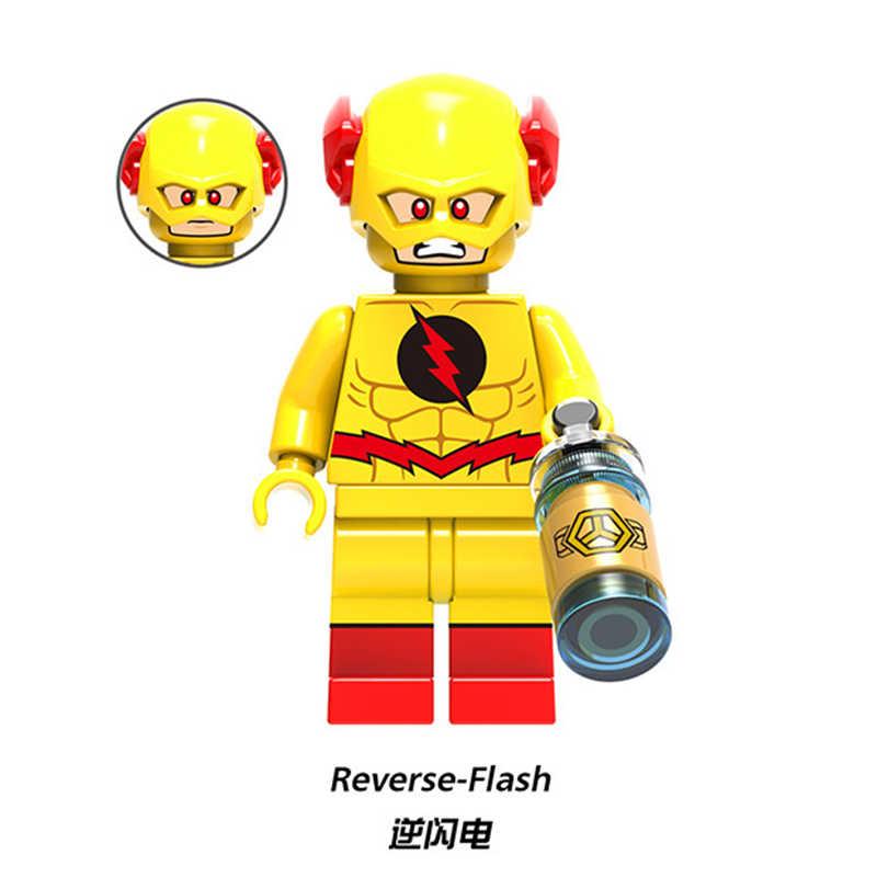 Dc flash super heróis vermelho amarelo preto flash jesse rápido punisher capitão grã-bretanha blocos de construção crianças brinquedos figuras