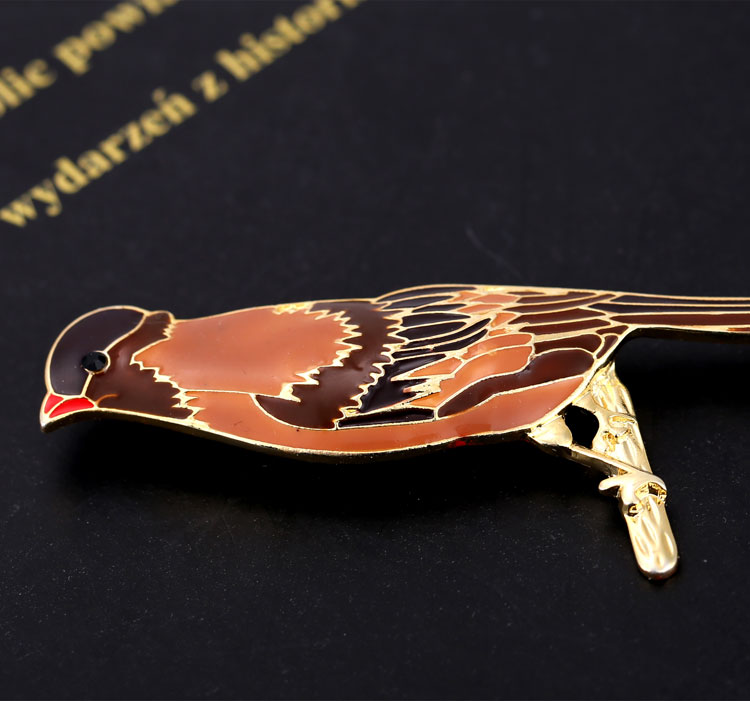 Sparrow Image Metal 20mm Lapel Pin