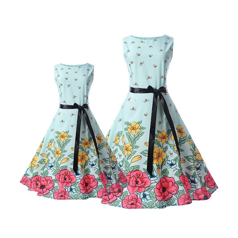 c4ad96cebcd Μαμά νύφη φορέματα οικογένεια ταιριάζουν ρούχα vintage τυπωμένα ...