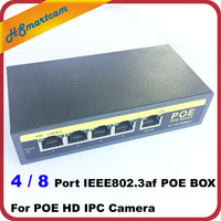 New Mini 4 Port 8CH PoE Switch Power Over Ethernet IEEE802 3af 60W 48V PoE Switch