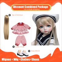 OUENEIFS 1/4 bjd sd doll beautifull toys Rosenlied RS Mignon add Wig and beautiful Clothes and Shoes Discount Combined Package