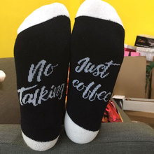 Women Men Unisex Fashion Casual Soft Comfortable Printing Letter Splicing Cotton Over Ankle Hosiery Socks
