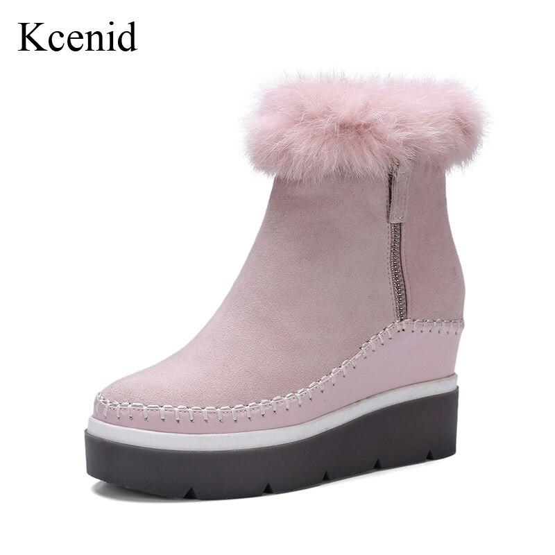 Mode 67 Frauen Damen Stiefel Schuhe Plattform kcenid Neue Winter Reißverschluss Us54 Stiefeletten Seitlichem 2018 Nerz 34Off Rosa Für Öffnung fy6b7g