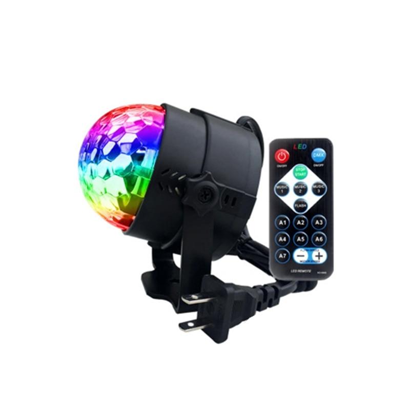 7 couleurs DJ Disco Ball Lumiere 3 W son activé Laser projecteur RGB scène éclairage effet lampe lumière musique noël KTV fête