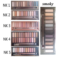 NK 1 2 3 4 5 SMOKY optional 2016 eyeshadow with brush kit Makeup 12 color Palette cosmetic dropshipping face care classic