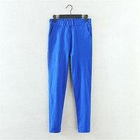 2016 Large Size Pants Women S Spring New Korean Elastic Waist Pants Feet Pants 7 Color