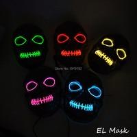 Toptan Ses Invertör LED Maske 10 renkler Seç EL Kafatası Maskeleri Cadılar Bayramı Için Tema Malzemeleri Parti Ve Konser Parti Maskeleri
