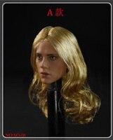 1/6 Scale Female Girl Lady head Sculpt Scarlett Black Widow Long Curly Hair F 12 Inches Phicen HT Body Figure Doll