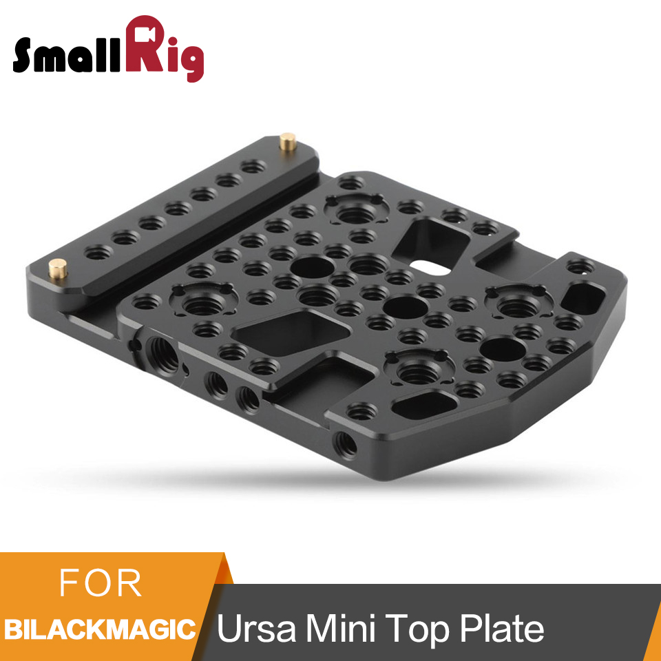SmallRig Top Plate Cheese Mounting Plate for Blackmagic URSA Mini with Two Cold Shoe Mounted 1853