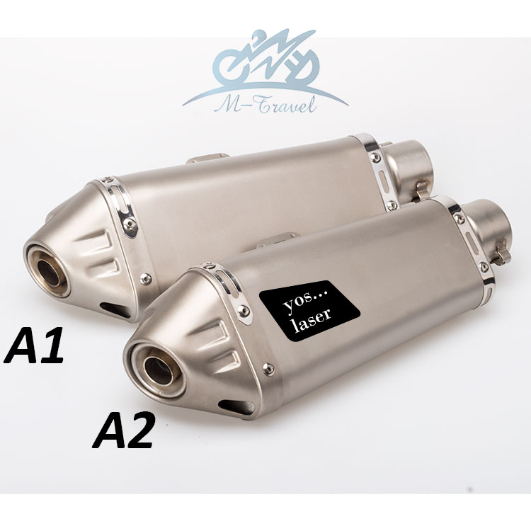36-51mm universal motorcycle exhaust motorcycle muffler z800 ktm690 gsxr750 er6n zx6r cbr500r ninjia250 z250 nk650 tnt600 BN600 36 51mm universal motorcycle double exhaust muffler pipe for z800 gsxr750 zx10r ninja650 two holes muffler cbr1000rr cbr650