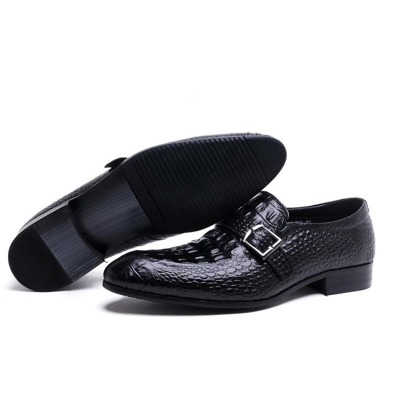 Mariage Nouvelle En Sur Robe Vache Relief Chaussures Bout 2 La Mode Loisirs Soirée De Taille Hommes Glissement Cuir 44 1 37 Pointu Boucle 41 WHDIY2E9