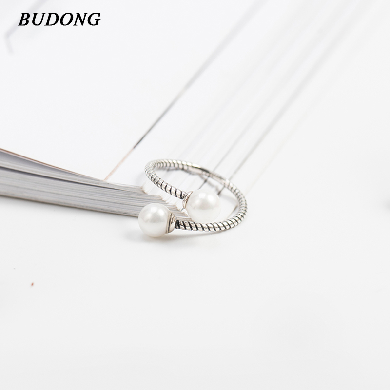 BUDONG Luxury 100% 925 Sterling Silver Rings for Women Wedding Engagement Acessories Jewelry Big Promotion Gift for Girl XURT021