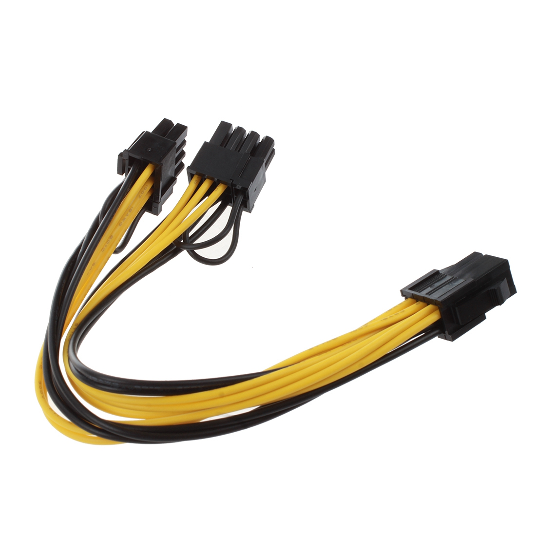 semoic Module 6Pin <font><b>to</b></font> <font><b>Dual</b></font> PCI-E PCIe <font><b>8Pin</b></font> + <font><b>8Pin</b></font> (<font><b>6</b></font>+<font><b>2Pin</b></font>) Power Ribbon <font><b>Cable</b></font> Cord 20cm + 20cm for Thermaltake Tt 650 W0163 PS image