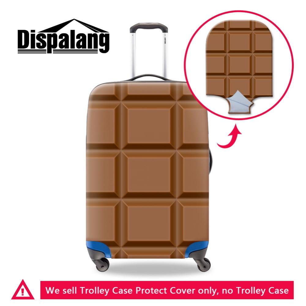 Dispalang Чемодан защитный чехол для тележки чемодан шоколад узор толстые пыле эластичный чехол Туристические товары