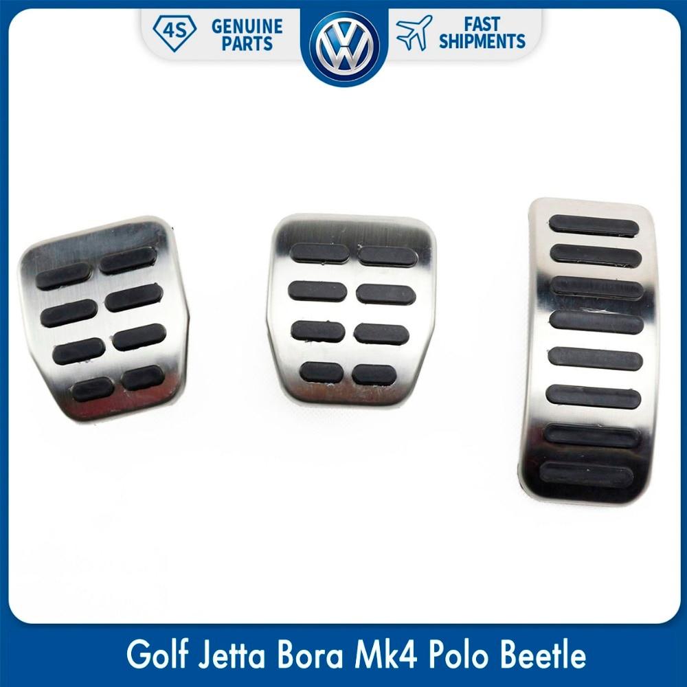 3 unids/set embrague Gas freno MT Pads pedales deportivos para VW Volkswagen Golf Jetta Bora Mk4 Polo Escarabajo