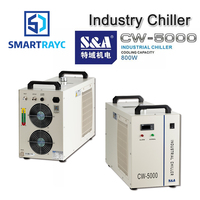 Smartrayc S&A CW5000 Industry Air Water Chiller for CO2 Laser Engraving Cutting Machine Cooling 80W 100W Laser Tube