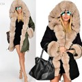 2016 New Fashion Women Winter Long Warm Thick Parka Faux Fur Jacket Hooded Coat Ladies Casual Clothing